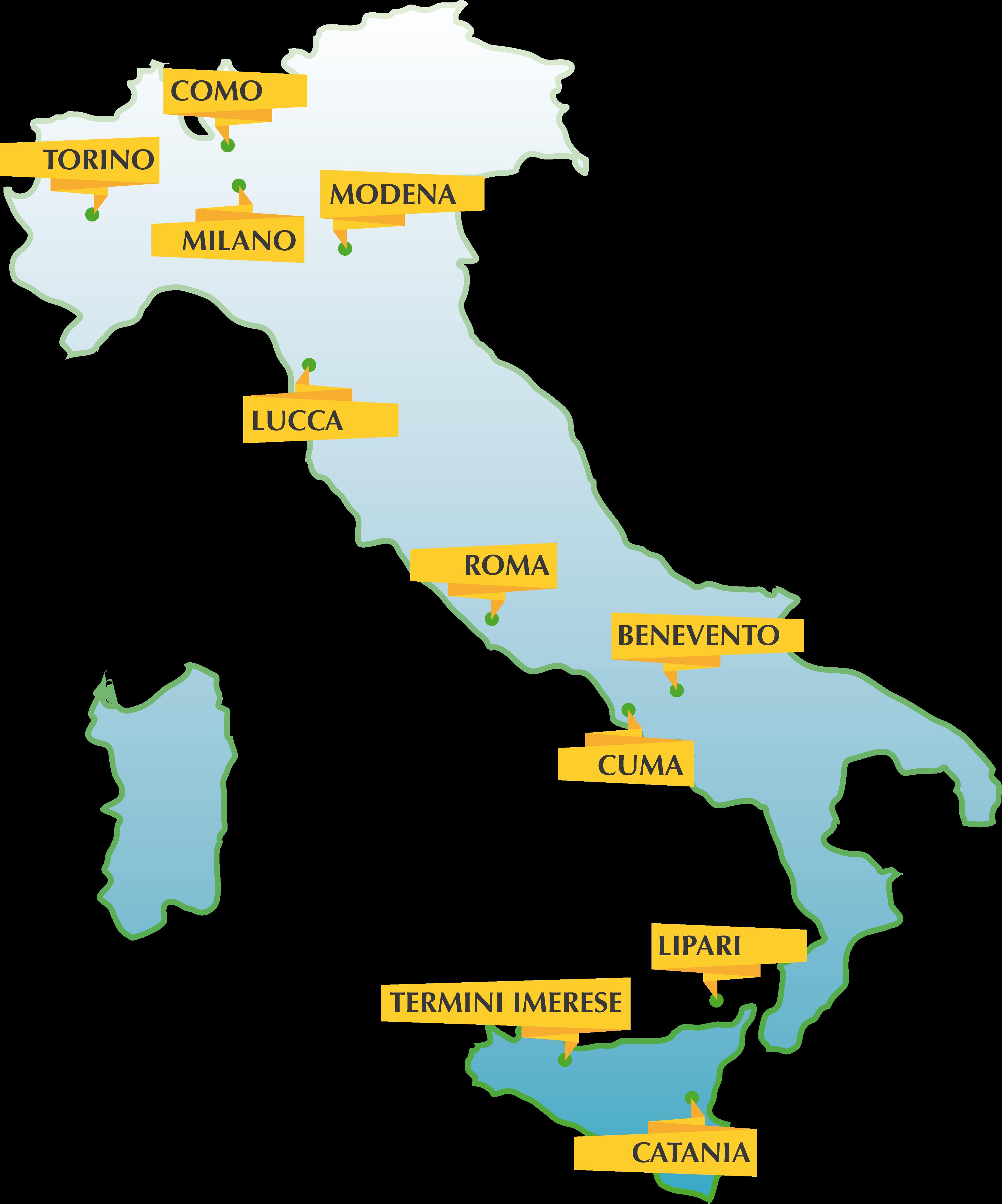 i luoghi dell'edizione 2014