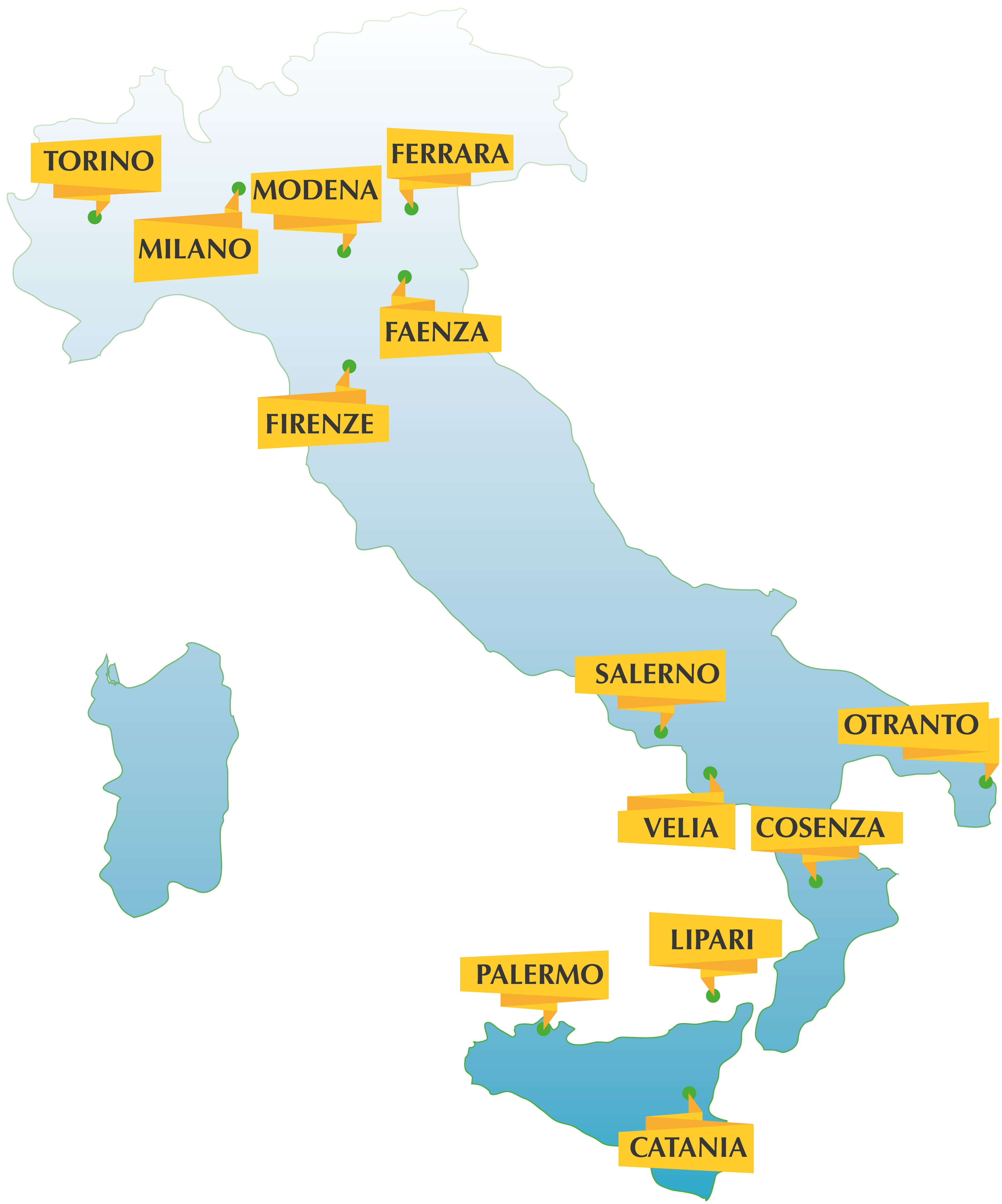 i luoghi dell'edizione 2015