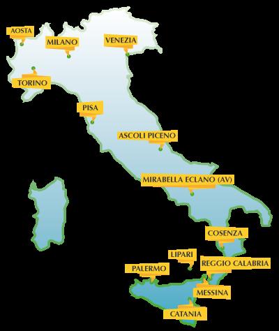i luoghi dell'edizione 2016