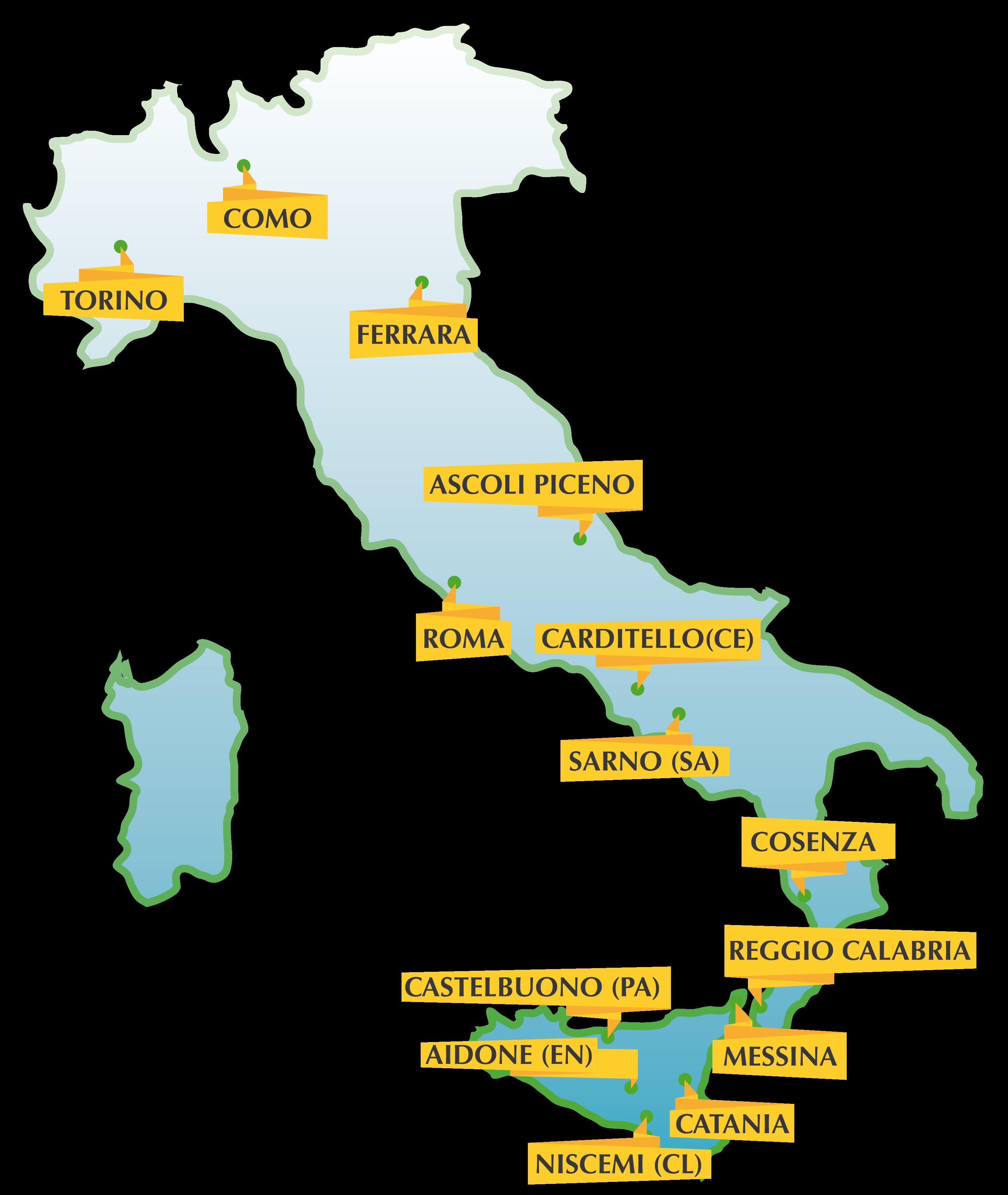 i luoghi dell'edizione 2018